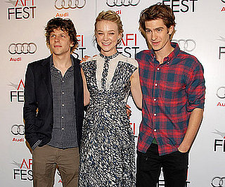 Picture Slide of Carey Mulligan, Andrew Garfield ,and Jesse Eisenberg in LA
