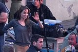 Pictures of Angelina Jolie on Set