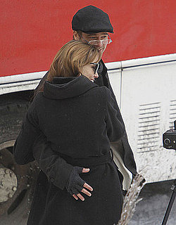 Pictures of Brad Pitt and Angelina Jolie Hugging in Hungary 2010-11-08 07:32:42
