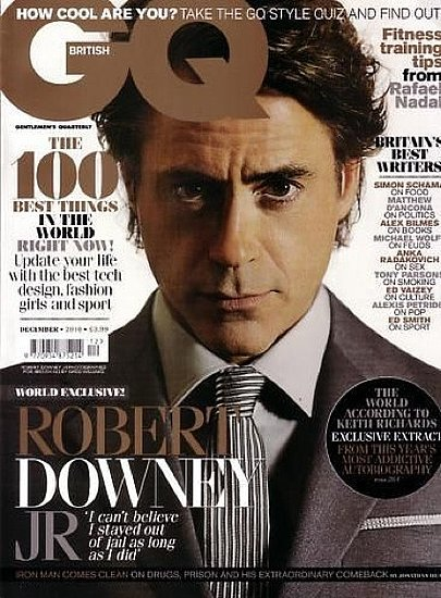 Robert Downey Jr. covers GQUK-december 2010