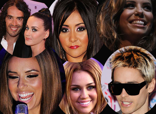 Eva Longoria, Katy Perry, Miley Cyrus and More at the Europe MTV Music Awards