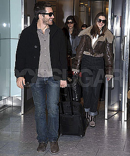 Pictures of Anne Hathaway and Jake Gyllenhaal Arriving in London