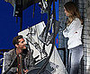 Slide Picture of Shia LaBeouf and Rosie Huntington-Whiteley Filming Transformers 3