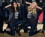 Chanel Iman and Anne Vyalitsyna get silly.