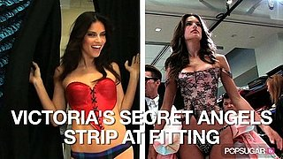 Video of Victoria's Secret Models Adriana Lima and Alessandra Ambrosio Trying on Lingerie
