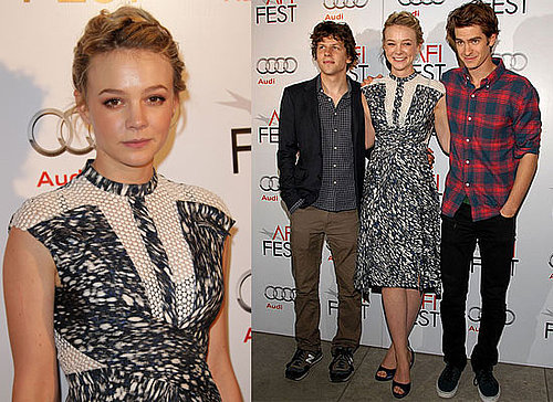 Carey Mulligan, Andrew Garfield and Jesse Eisenberg at an AFI Roundtable