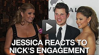 Video of Jessica Simpson Commenting on Nick Lachey and Vanessa Minnillo Getting Engaged