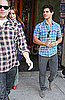 Pictures of Taylor Lautner and Lily Collins Out to Lunch