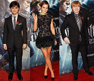 Emma Watson, Rupert Grint, Daniel Radcliffe at Harry Potter and Deathly Hallows Premiere in London