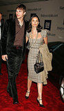 Coordinated and polished with Ashton at a fashion event in 2004.