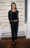 Baring a little midriff at the CFDA Awards in '98.