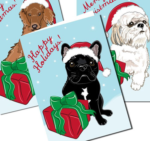 Send a truly special ode to your furball with Custom Holiday Pet Greeting Cards ($35 for 10).