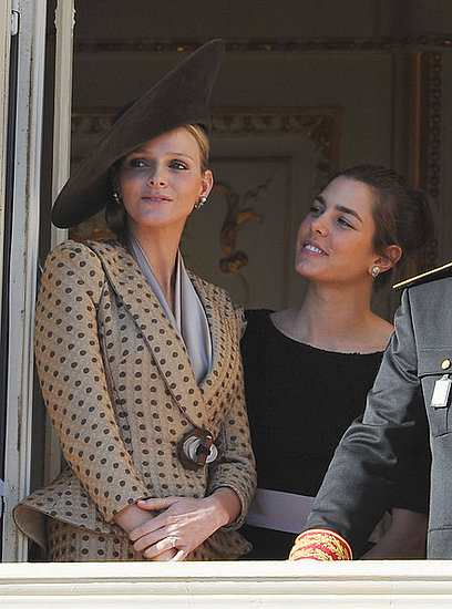 Andrea,Charlotte,pierre Casiraghi,Princess Alexandra and Princess Caroline of Hanover attend Monaco National Day 2010