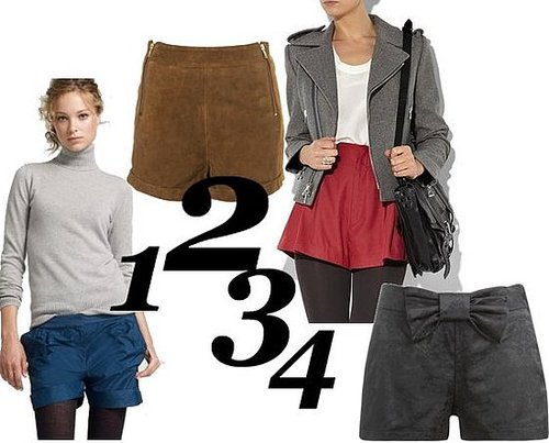 Shop the Best Shorts For Winter Falll 2010