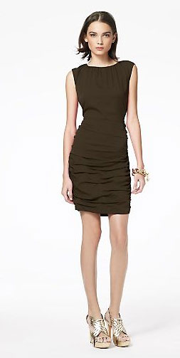 """I love the cut and color of this sheath. I'd glam it up with leopard accessories or a bold belt."" DvF Tulipan Dress ($325)"