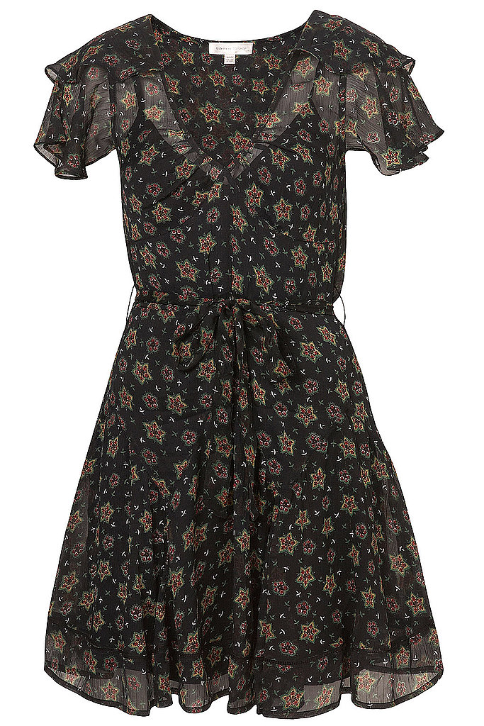 """I love the print on this dress. It's very young and playful. I think it would look super cute with a pair of colorful tights."" Topshop Star Print Chiffon Dress ($160)"