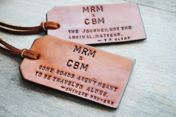 Custom Leather Luggage Tags ($23)