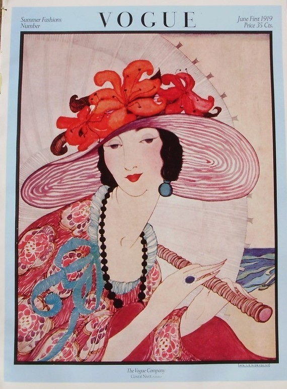 Vintage Vogue June 1919 Cover Poster ($17)