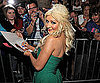 Slide Picture of Christina Aguilera Signing Autographs
