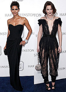Pictures of Leighton Meester in Lace Jumpsuit With Halle Berry at David Winston Event in NYC