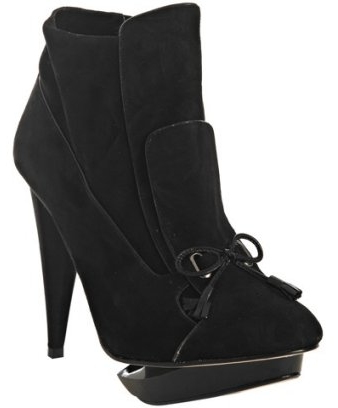 "Velvet Angels Black Suede ""Ella"" Ankle Boots ($160, originally $195)"