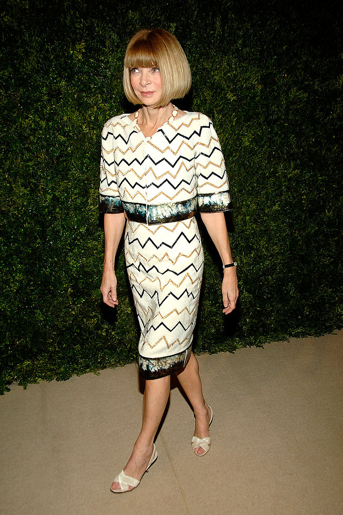 Anna Wintour arrives in Chanel Fall 2010 Couture.