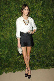 Alexa Chung showed off her signature style aesthetic in shorts.