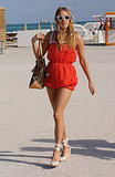 A fabulously retro beach look in the Summer of '05.