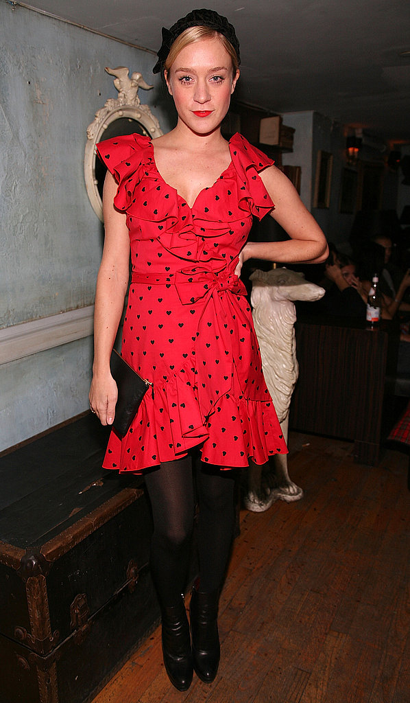 Working a vintage vibe in red polka dots in Feb. '08.