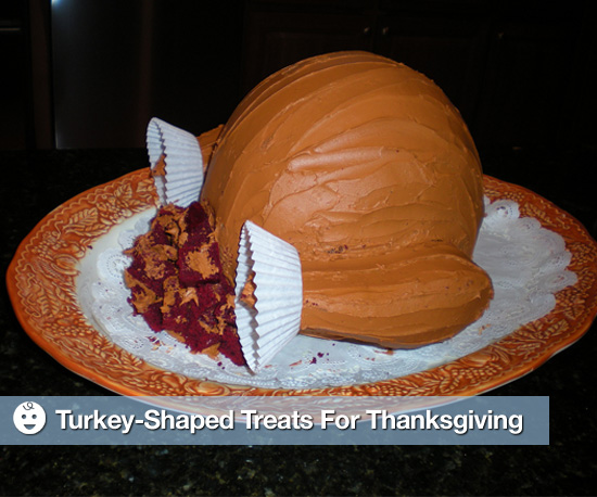 Turkey-Shaped Treats For Thanksgiving