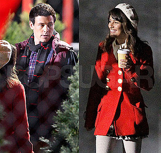Pictures of Lea Michele, Cory Monteith, Matthew Morrison and Chris Colfer on the Set of Glee