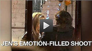 Video of Jennifer Aniston Shooting Wanderlust in New York 2010-11-19 10:15:00