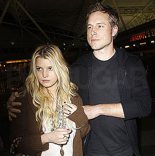 Pictures of Jessica Simpson With Eric Johnson at LAX