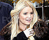 Slide Picture of Jessica Simpson Wearing Ruby and Diamond Rings in NYC