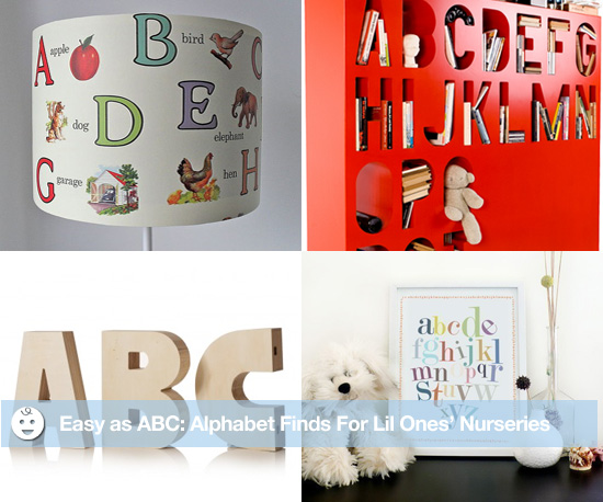 Easy as ABC: Alphabet Finds For Lil Ones' Nurseries