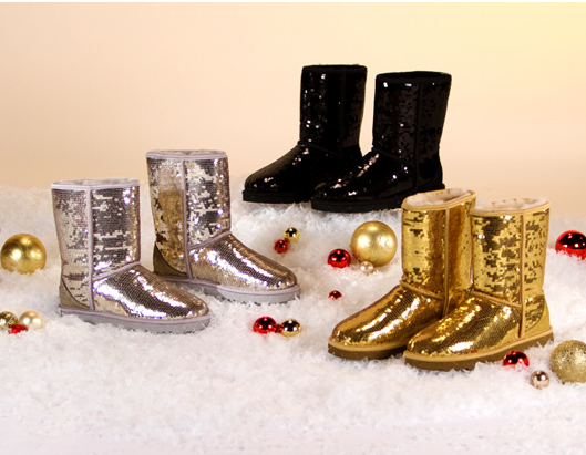 While Ugg boots have been known to spark major style debates, they've been on Oprah's list of Favorite Things for over a decade. Ugg Australia has created this version ($175) that is covered in sequins, and Oprah says they're comfy, cozy, and dazzling.