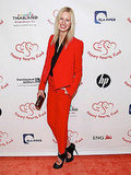 Wow, Karolina Kurkova should wear red more often. Loving this entire getup, head to toe.