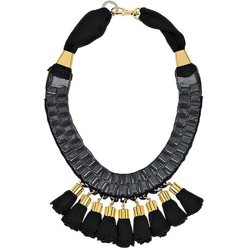 Organza and Leather Necklace