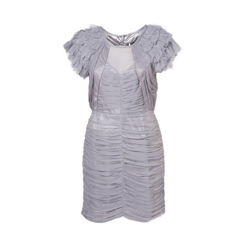 Limited Edition Grey Silk Ruffle Dress, approx $275 from Topshop