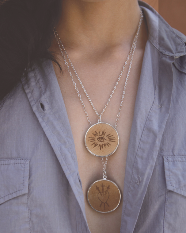 Wooden Nickel Pendant