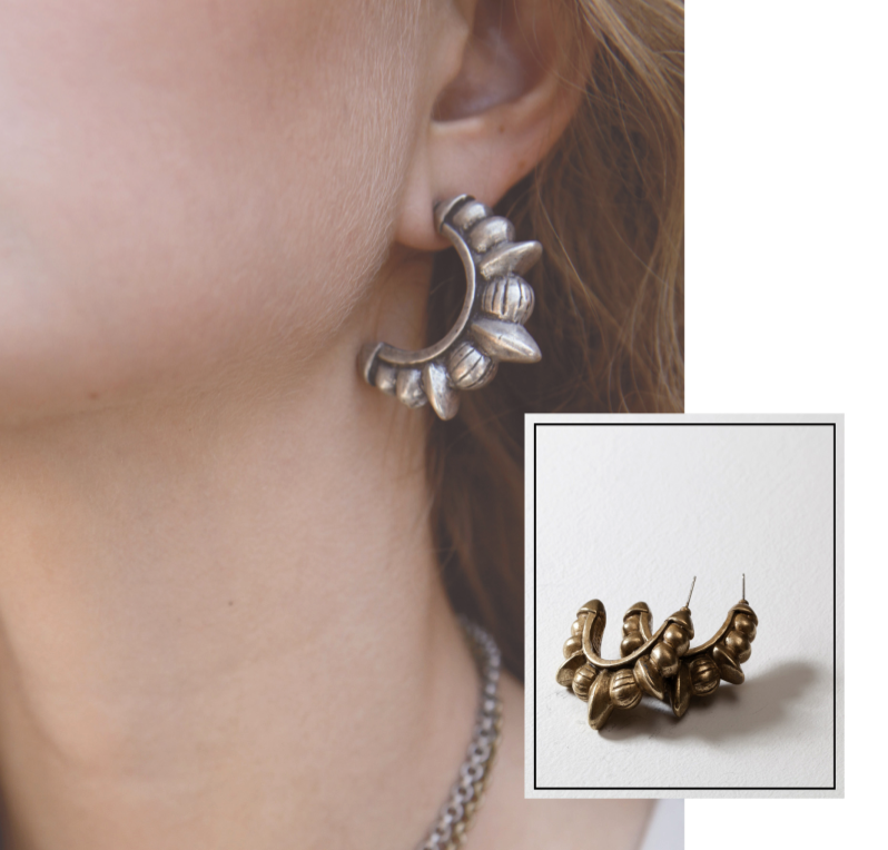 Tribal Spike Stud Earrings