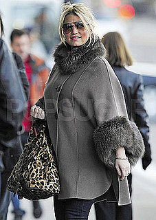 Pictures of Jessica Simpson Wearing a Big Gray Coat in NYC