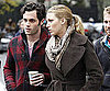 Slide Picture of Blake Lively and Penn Badgley Filming Gossip Girl