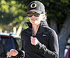 Slide Picture of Reese Witherspoon Running in Brentwood, CA