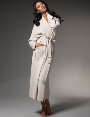 It's super pricey, but this Neiman Marcus Cashmere Robe ($495) will keep me so cozy chic at home.