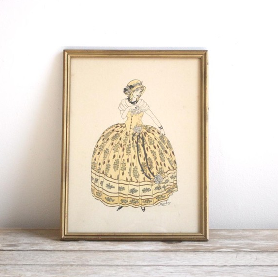 Original French Fashion Illustration ($88)