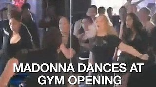Video of Madonna at Opening of Hard Candy Fitness Gym in Mexico City
