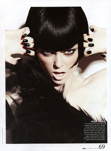 Party Beauty Looks: Coco Rocha in Glow Magazine