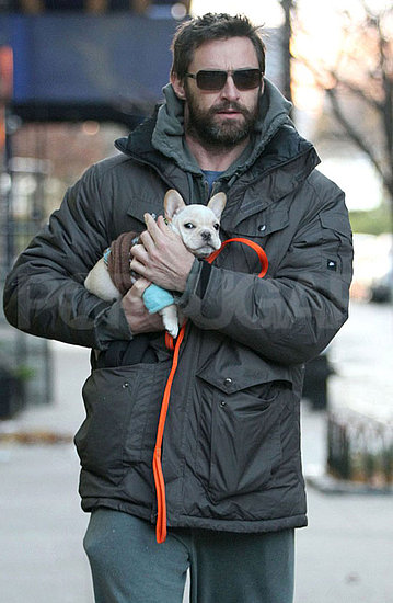 Pictures of Hugh with Puppy