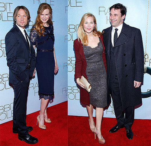 Pictures of Nicole Kidman, Aaron Eckhart, Jon Hamm, Jennifer Westfeldt, Sandra Oh at NYC Premiere of Rabbit Hole 2010-12-03 14:00:00